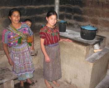 Gabriela Mejia and her fuel efficient stove