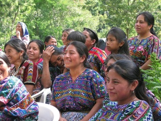 Mayan women at an AMIDI celebration